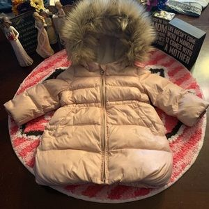 ⭐️Baby Gap Girl Fury Hooded Coat 12-18 Months⭐️